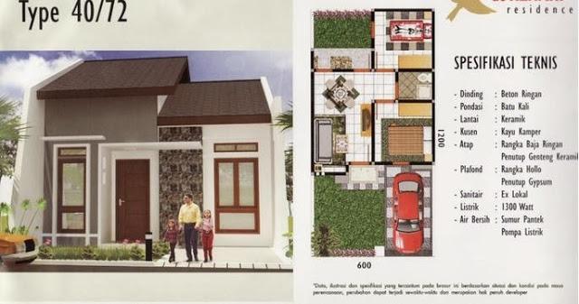 Desain Unik Denah Rumah Minimalis 1 Lantai Ukuran 6 x 12