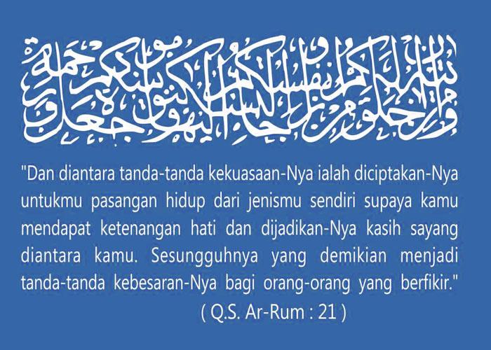 Doa-doa Pernikahan Islam di dalam Undangan