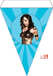Banderín de la Película de la Mujer Maravilla para Imprimir Gratis.