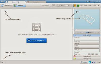 Any Video Converter - תוכנה חינמית להמרת קבצי וידאו