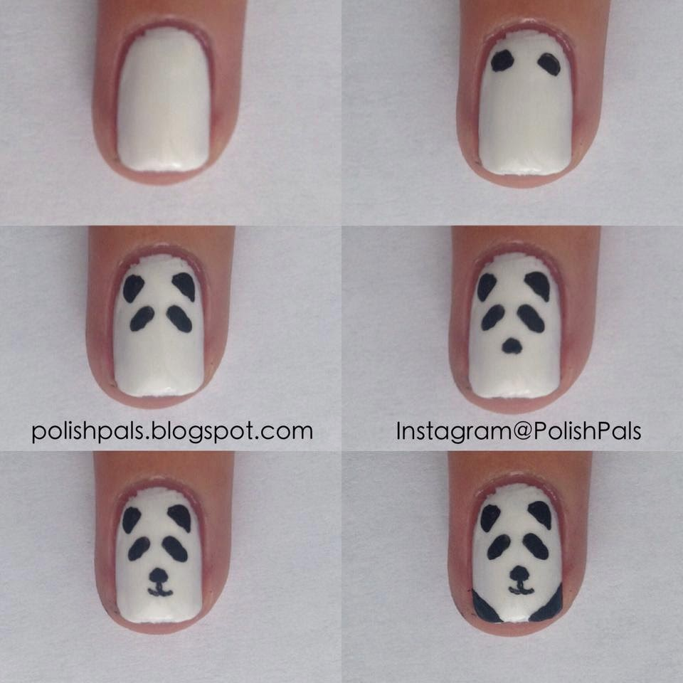 Panda Nail Art: Polish Pals: Tutorials