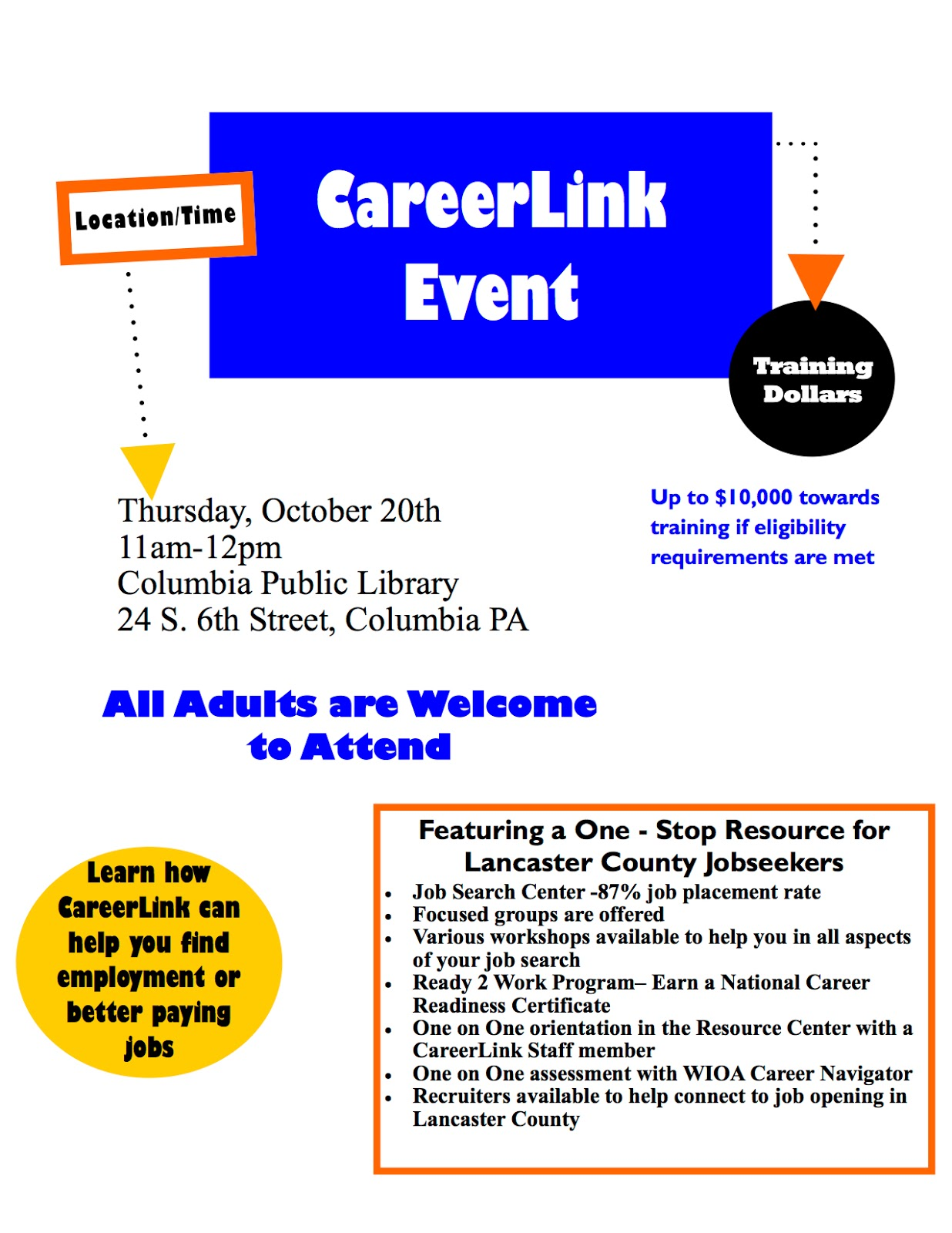 Columbia spy october 2016 library happenings thursday october 20 2016 careerlink for job seekers xflitez Image collections