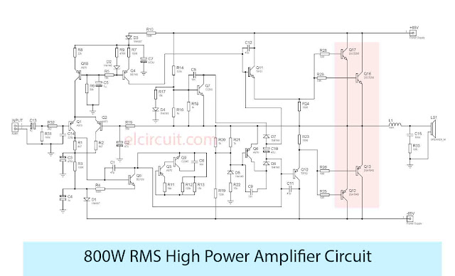 800W High Power Amplifier
