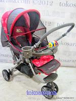 Kereta Bayi BabyDoes CH278 Parade-X Tongkat Dorong dari Depan atau Belakang 3