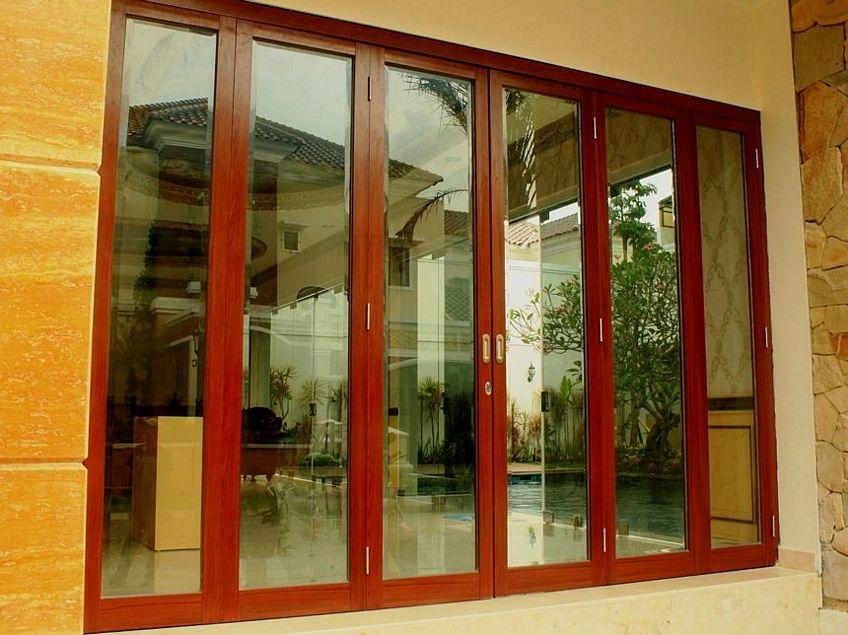 pintu aluminium urat kayu 4
