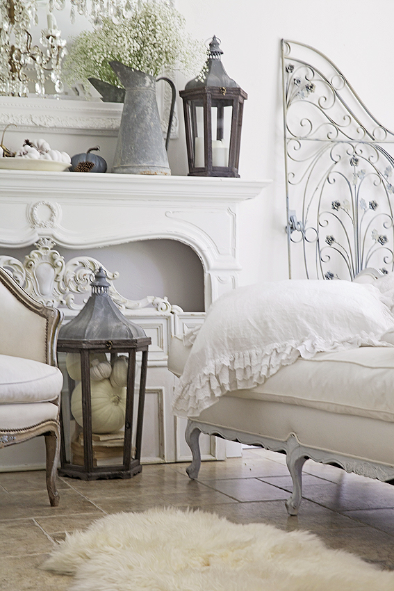 french country white fall decorating shabbyfufu domino best bloggers