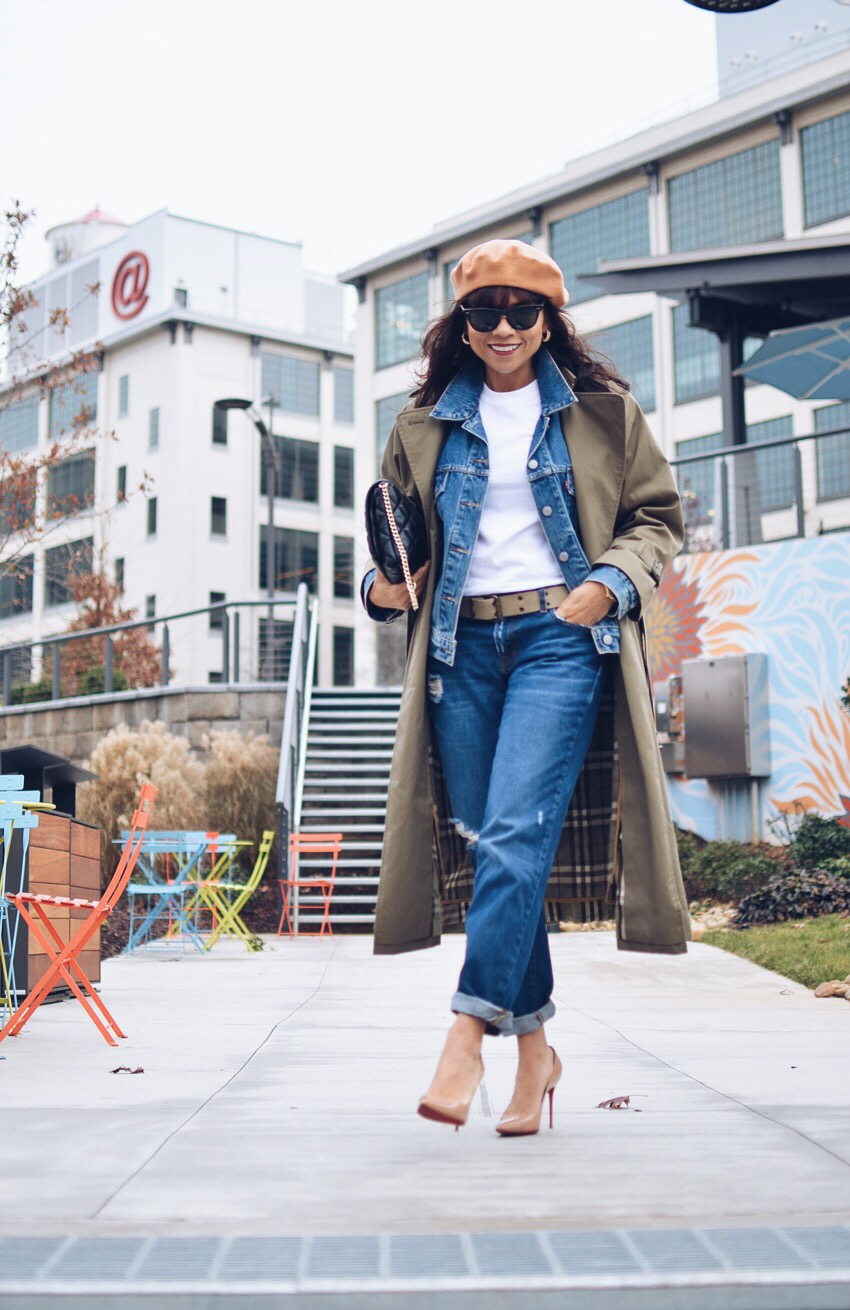 Long trench coat street style