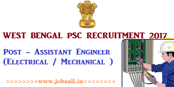 WBPSC online application, West Bengal PSC Vacancy, Engineering jobs in West bengal