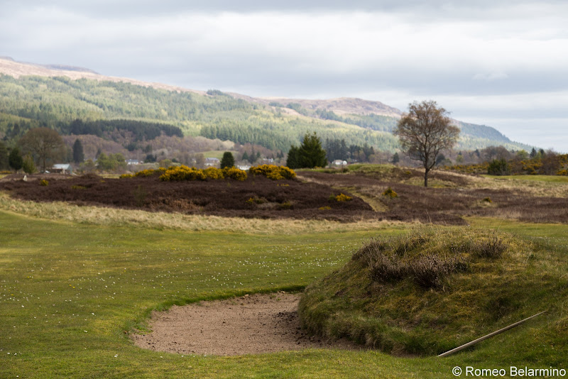 Fort Augustus Golf Club Bunker Gorse and Heather Top Scottish Golf Courses