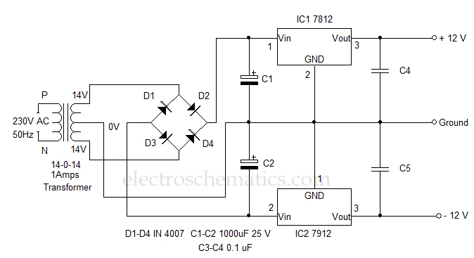 12 volt dual power supply circuit Small 12 Volt Power Supply 12 volt dual power supply circuit diagram