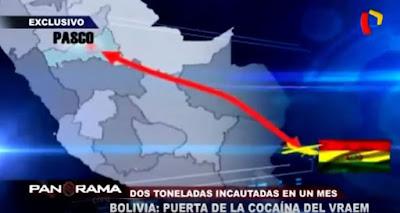 Un reportaje de TV peruana confirma que Bolivia es un país de tránsito de droga de ese país