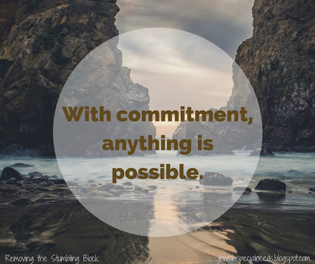 With commitment, anything is possible; Removing the Stumbling Block