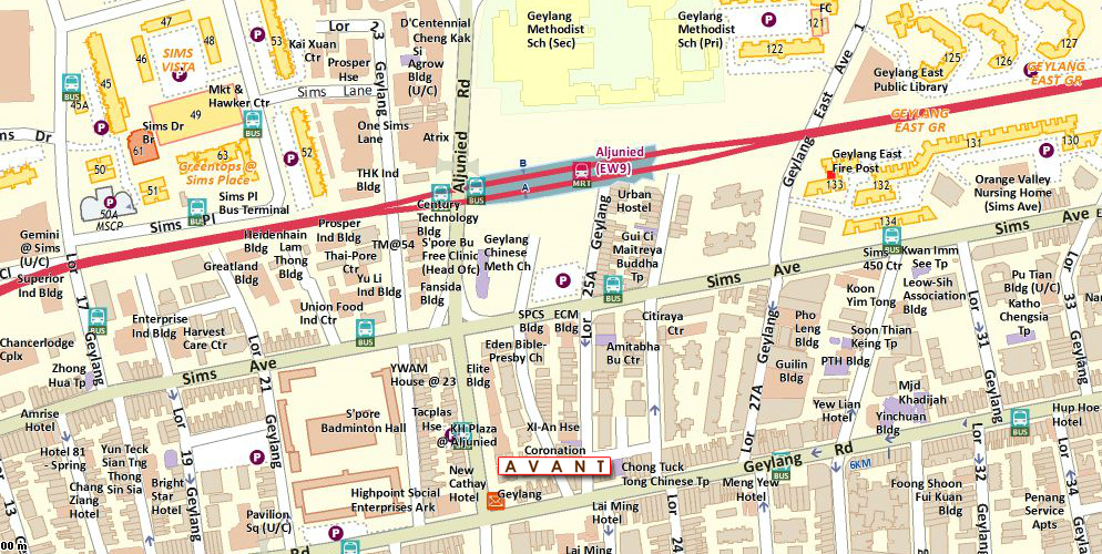 Avant at Aljunied Location Map
