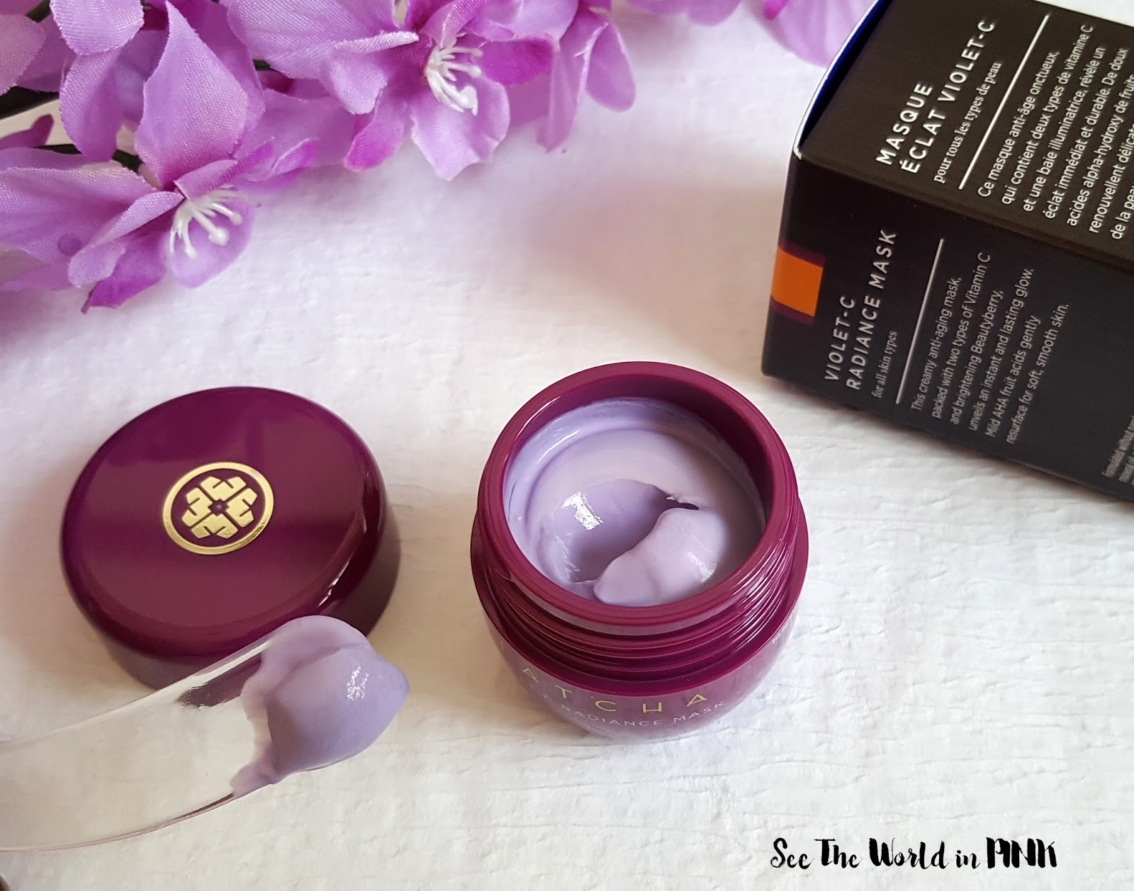 Mask Wednesday - New Tatcha Violet-C Radiance Mask Review!