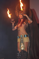 Fiery Amazon woman