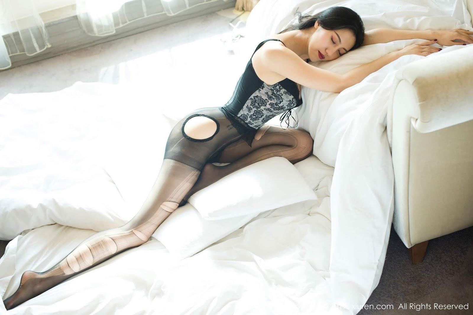 Asian Babe Wang Rui Black Dress and Bikini - Asian Hot