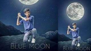 Blue Moon Picsart manipulation editing+new manipulation+Background change+Moon manipulation