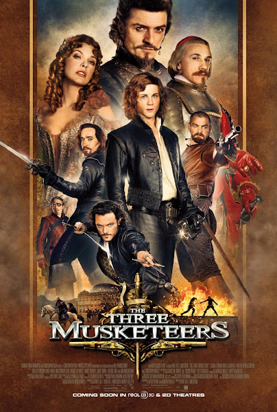 Poster Of The Three Musketeers 2011 720p Hindi BRRip Dual Audio Full Movie