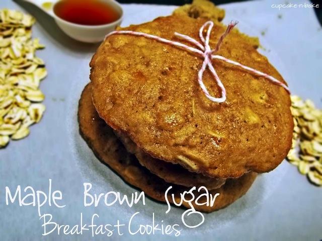 Maple Brown Sugar Breakfast Cookies