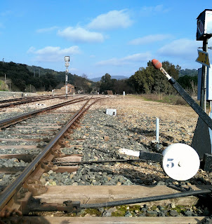 Estación de tren abandonada Sierra Norte de Sevilla.