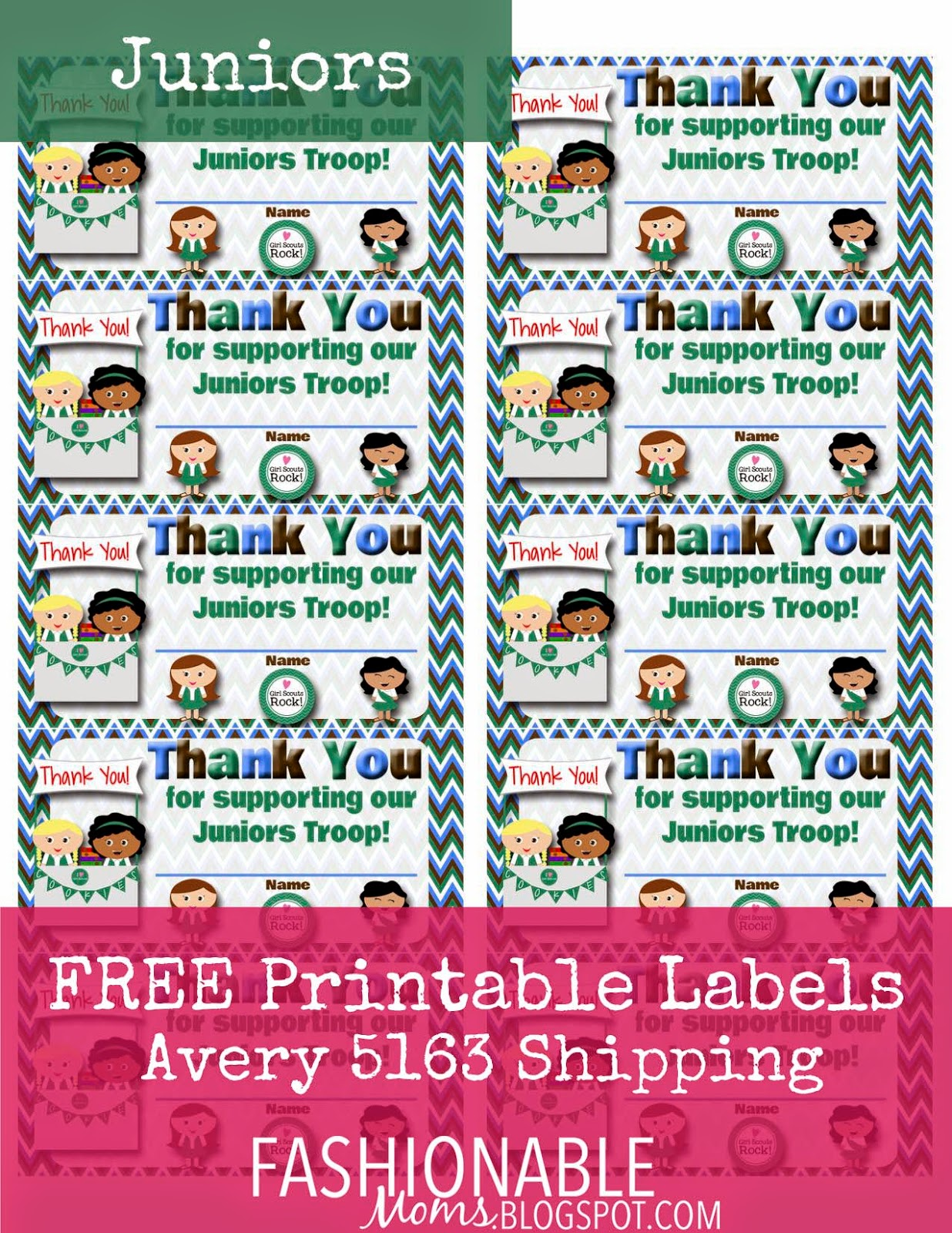 Fashionable Moms Free Printable Thank You Labels For