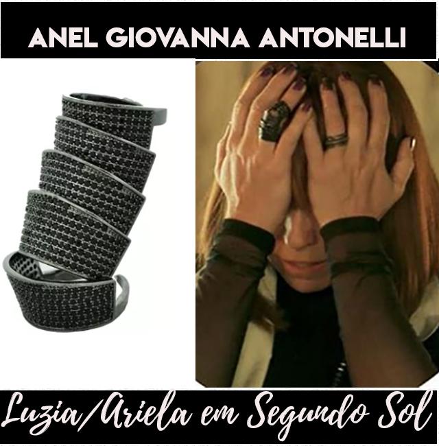 Os aneis de Giovanna Antonelli, a Luzia/Ariela em Segundo Sol.