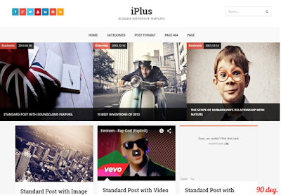 iPlus Blogger Template