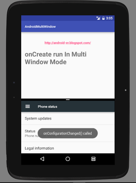 Onconfigurationchanged() Called When Window Size Changed Inward Multi-Window Mode