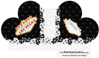 Caja abierta en forma de corazón de Fiesta de Las Vegas.