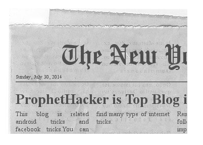 Create Fake Screenshot of Any Newspaper Headline