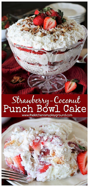 Strawberry Punch Bowl Cake Recipe With Angel Food Cake
