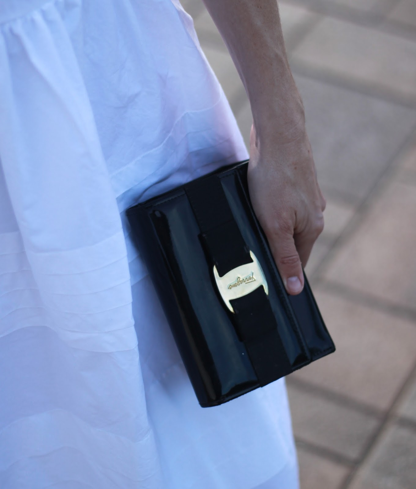 black ferragamo bag