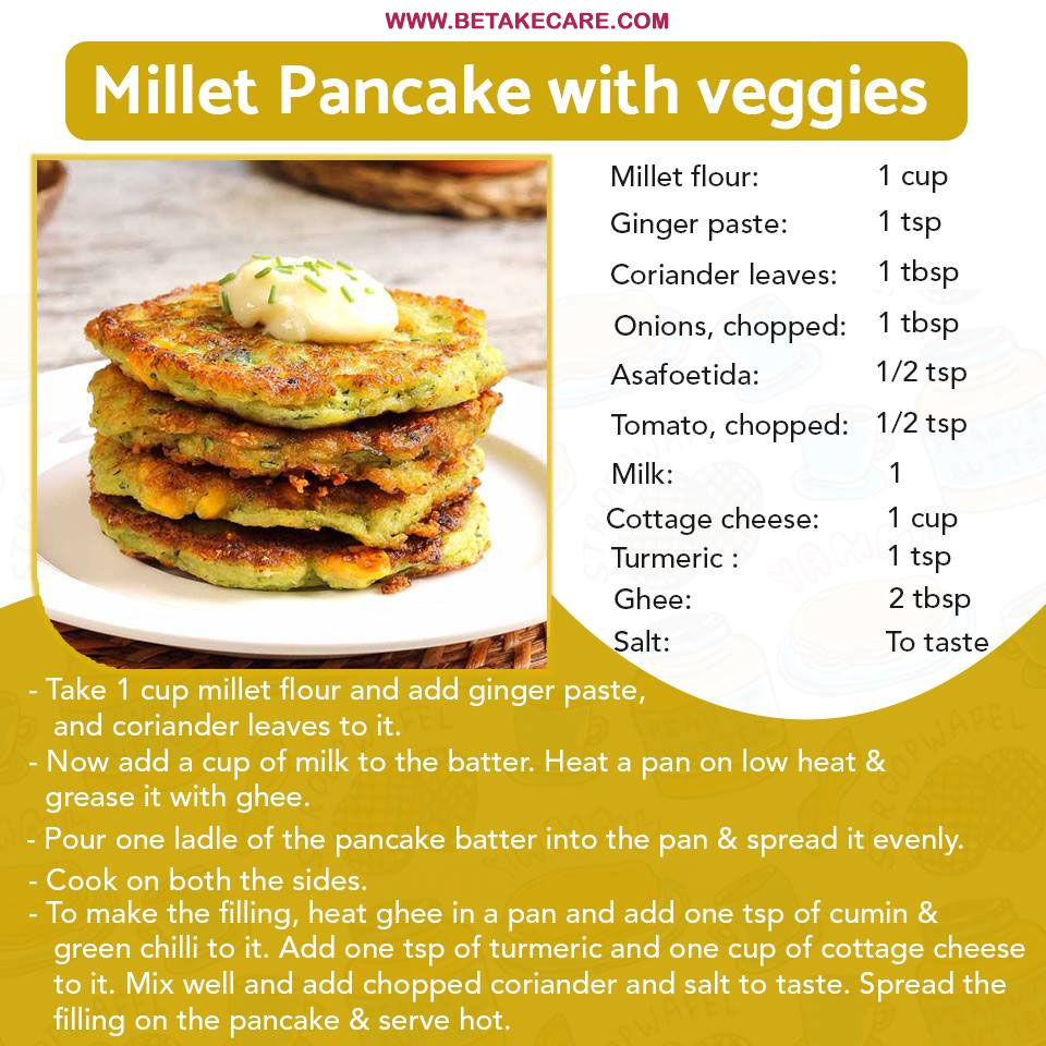 Millet Pancake With Veggies