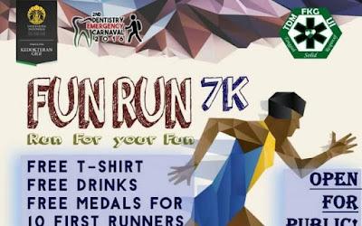 7K Fun Run DEC FKG Universitas Indonesia 2016 Depok Dentistry Emergency Carnaval Tim Darurat Medis Fakultas Kedokteran Gigi