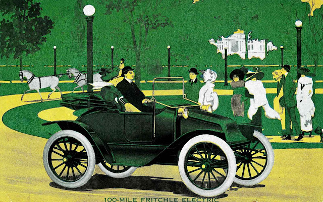 illustration of 1913 Fritchle electric car