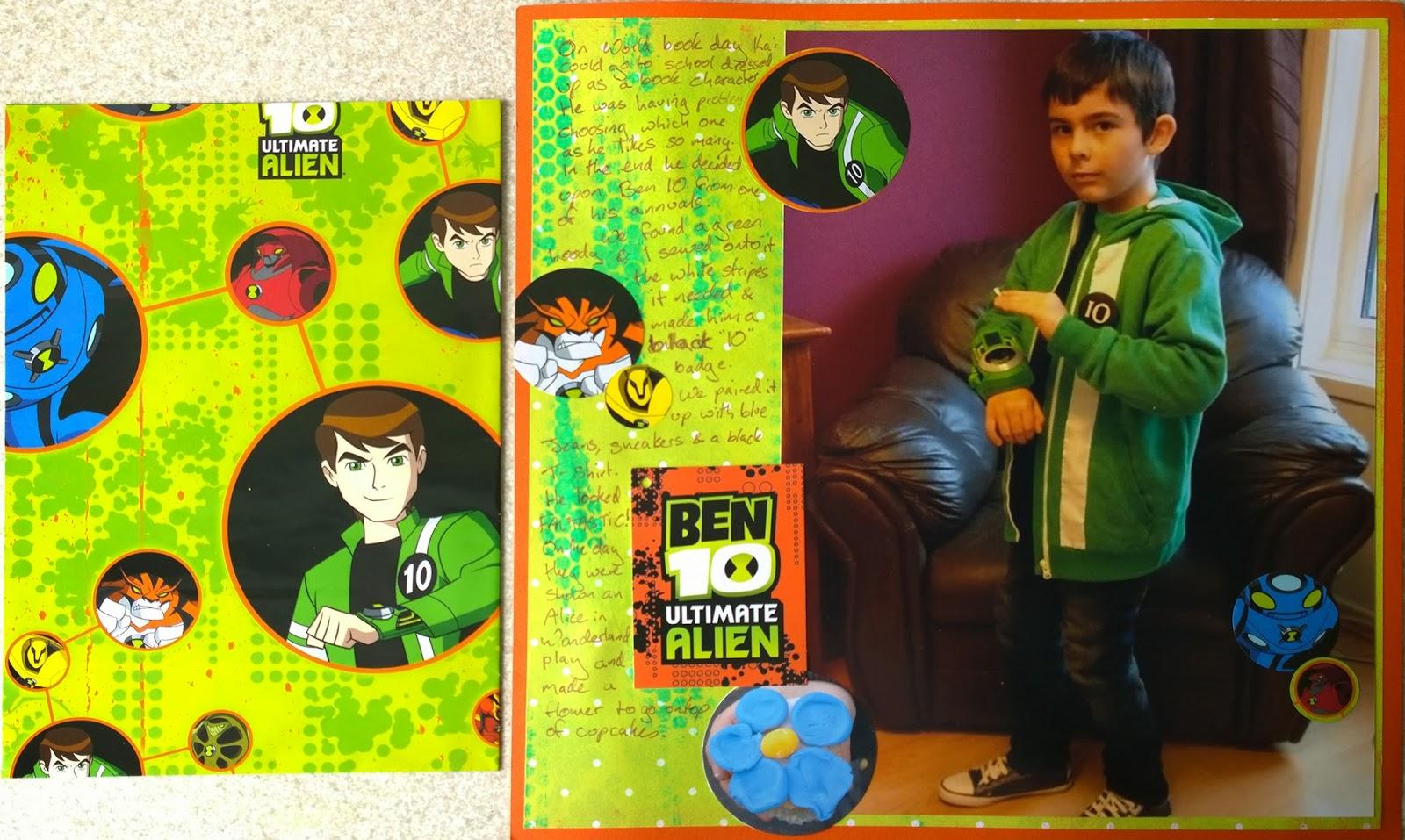 K's crafty corner : Scrapbooking: Ben 10
