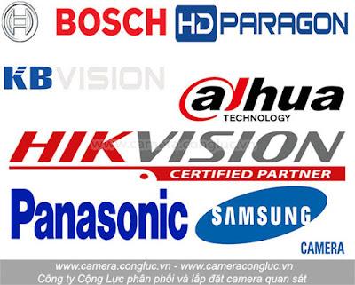 Một số thương hiệu camera quan sát uy tín nổi tiếng trên thị trường.