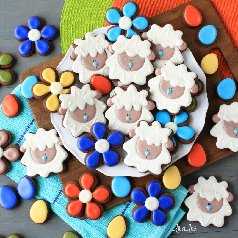 simple and fun decorated Easter sugar cookies