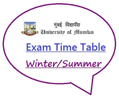 Mumbai University Time Table Summer 2020