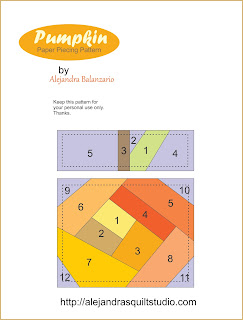 Pumpkin paper piecing pattern