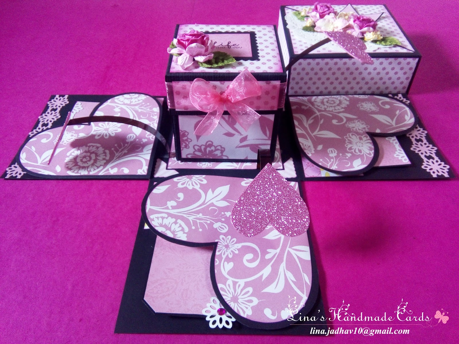 lina's handmade cards valentine explosion box