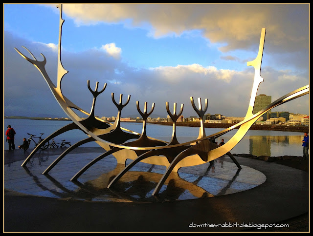 art installment Reykjavik harbor, Iceland art