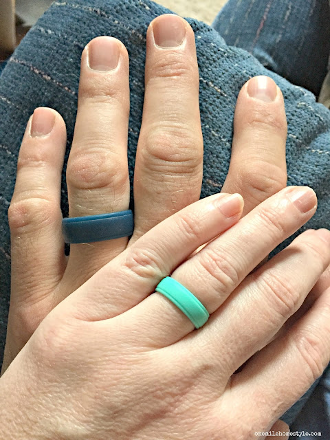 Protect your wedding rings when you are doing DIY projects! These silicone wedding rings are a perfect solution!