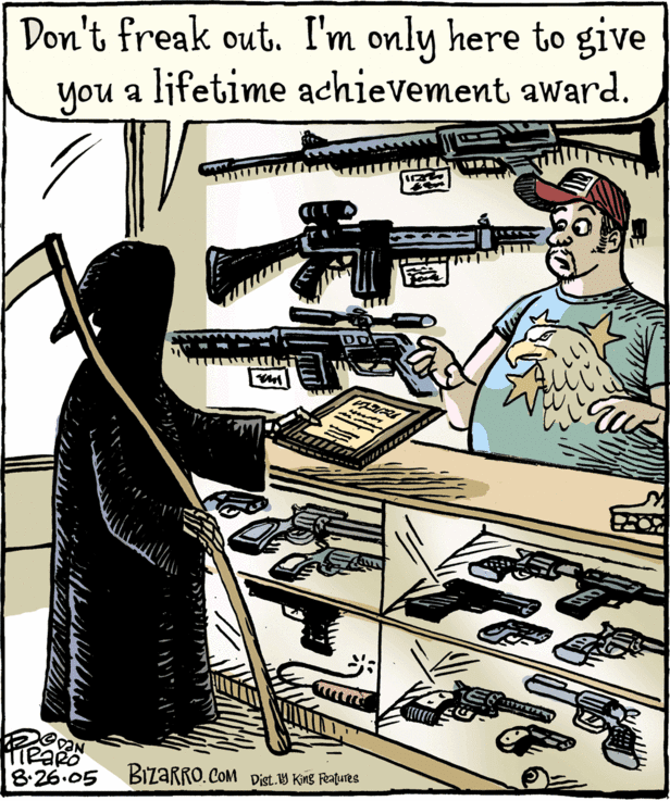 Don't freak out. I'm only here to give you a lifetime achievement award.