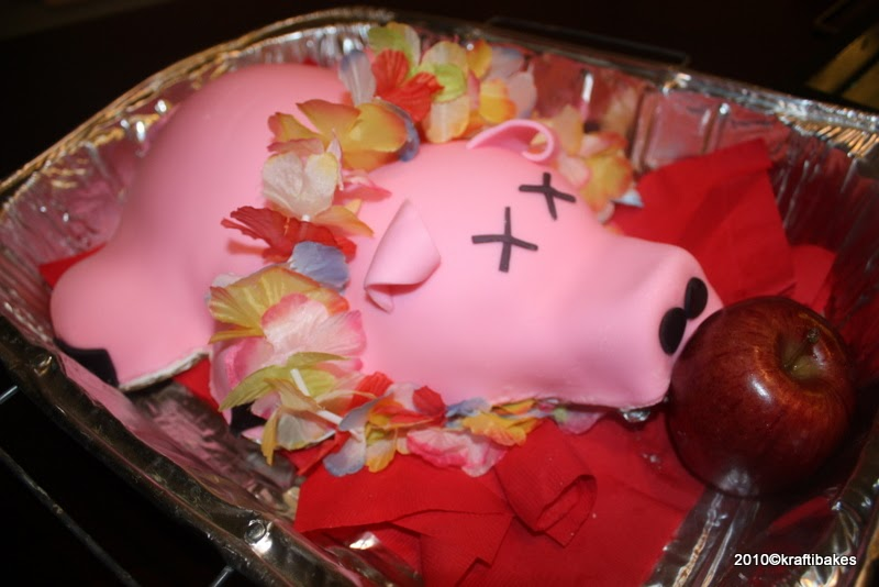 Baking And Caking For Beginners Luau Pig Cake