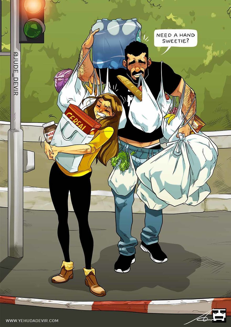 Yehuda-Adi-Devir-geniales-ilustraciones-de-la-vida-en-pareja