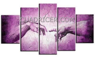 http://www.cuadricer.com/cuadros-pintados-a-mano-por-colores/cuadros-morados-violetas/cuadros-union-manos-creacion-berenjenas-1833.html