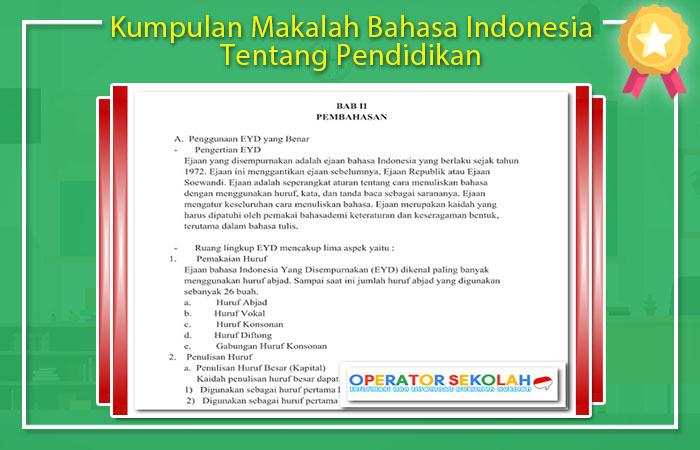 Kumpulan Makalah Bahasa Indonesia