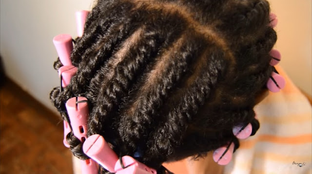 Click here to buy Perm Rods and master the flat twist out on transitioning hair!