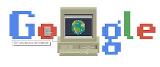 Google celebra el 30º aniversario de Internet con un doodle